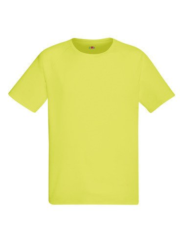 Koszulka sportowa Fruit of The Loom - pod nadruki Neon Yellow | Na ...
